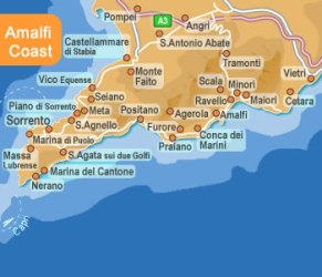 amalfi coast map ravello italy sorrento google amalfitana costa italia maps almafi bing vietri places viagem cetara travel momo salvo