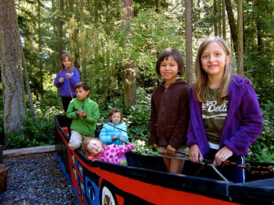 Playing In The Dugout Canoe