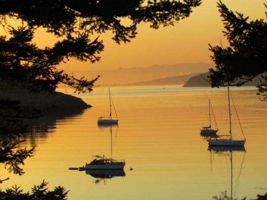 Sunset Off Spencer Spit