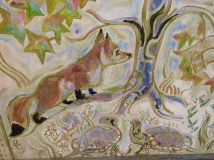 Red fox and turtles