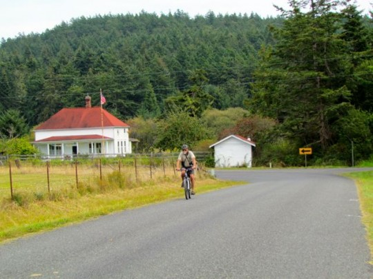 Biking To Watmough Bay