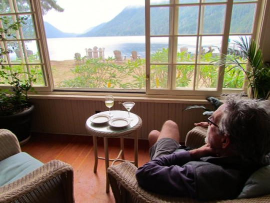 Relaxing At Lake Crescent Lodge