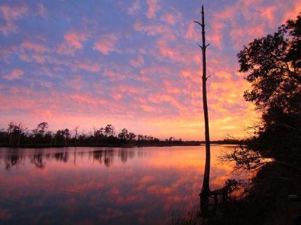 Sunset on the Ochlockonee River