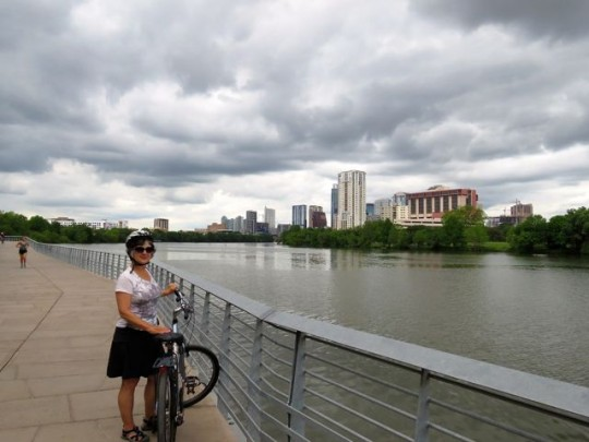Biking Along Lady Bird Lake