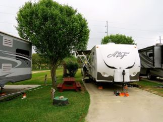 Tucked Into Our Site At High Island RV Park