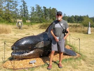 Orca at the sculpture garden, Roche Harbor