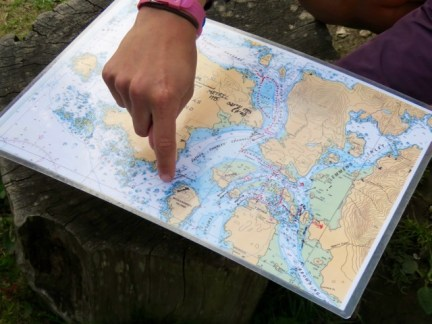 Our paddling route