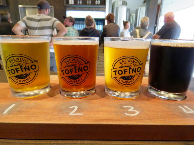 Loved the Cosmic Wave IPA and Kelp Stout (made with local kelp) at Tofino Brewing