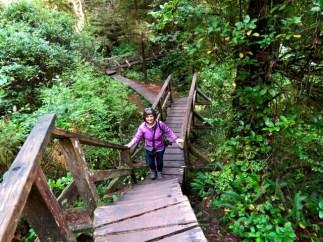 On the trail to Schooner Cove