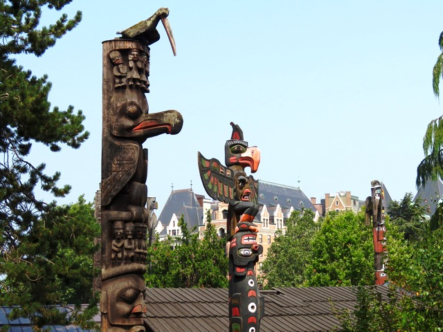First Nations totems In Victoria