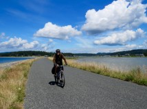 Biking Lopez Island, Washington