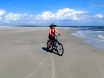 Biking Little Talbot Island, Florida