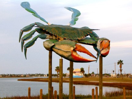 Blue Crab Sculpture, Rockport, Texas
