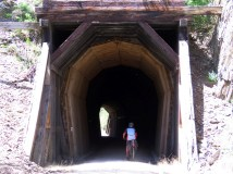 An old tunnel on the trail