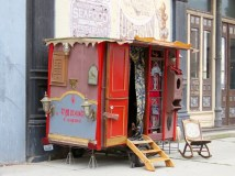 A gypsy wagon and tarot readings in downtown Port Townsend