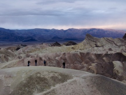 Waiting for sunrise at Zabriskie Point