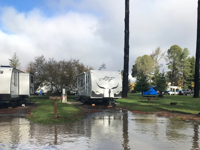 Lakeside campsite at Olema Campground