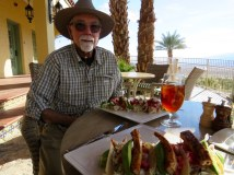 Lunch at Furnace Creek Inn (yummy fish tacos)