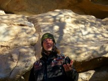 Our excellent guide at Hueco Tanks