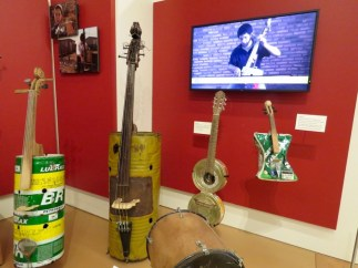 Instruments made from junk in Paraguay