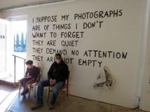 Art gallery show in Marfa