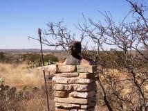 Bronze bust of ancient hunter gatherer