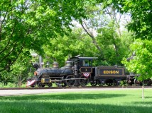 Coal-fired train at Greenfield Village