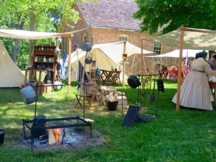 Reenactors encampment