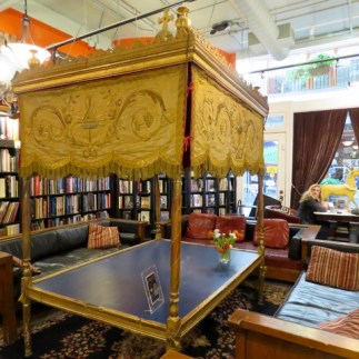 The very creatively decorated Battery Park Book Exchange and Champagne Bar
