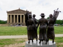 The Parthenon and the Women's Suffrage Monument
