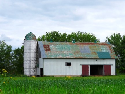 A patchwork barn in Kentucky