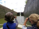 The exciting moment of the locks opening