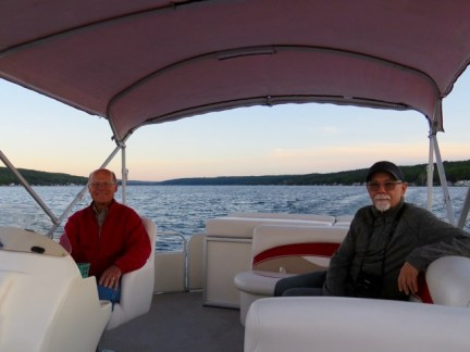 Relaxing evening on Lake Conesus