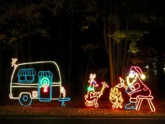 Holiday lights at James Island County Park, Charleston, SC