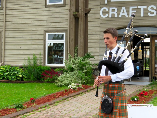 Bagpipes are great outdoors