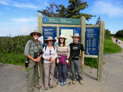 On the Skyline Trail with friends Beth & Perry