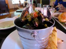 PEI mussels at Glenora Distillery