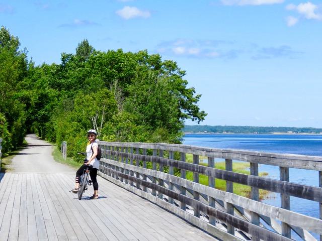Biking along Tatamagouche Bay