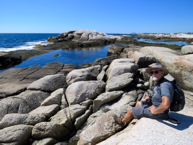Enjoying the tide pools at Polly's Cove