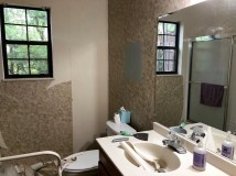 Removing wallpaper in the bathrooms