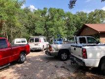 No room for any more work trucks
