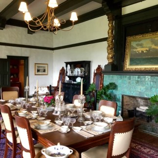 Dining room with Van Horne's painting