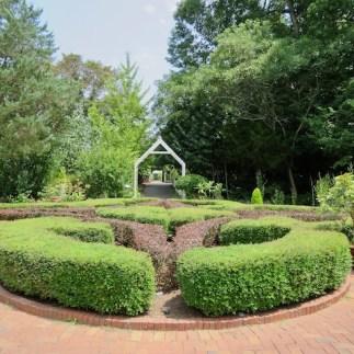 Knot garden in the formal garden