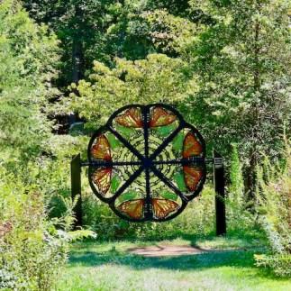 Butterfly art in the forest meadow