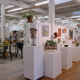 The open studios are a combination of gallery and working space