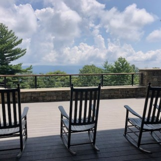 Porch for relaxing at the visitor center