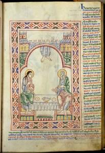 st. alban psalter supper at emmus