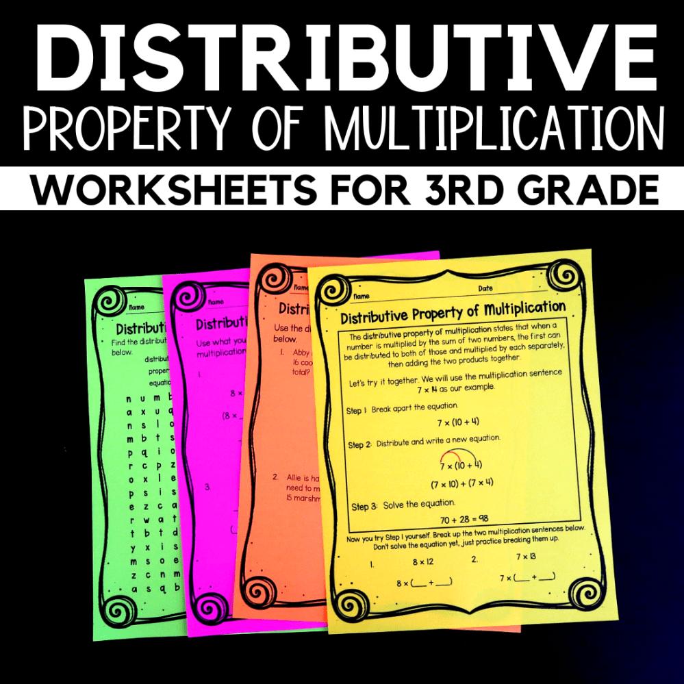 medium resolution of Properties of Multiplication Worksheets for 3rd Grade - Raven Cruz