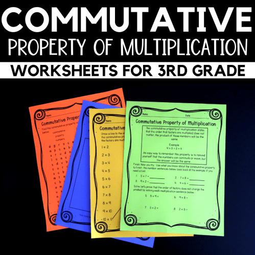 small resolution of Properties of Multiplication Worksheets for 3rd Grade - Raven Cruz