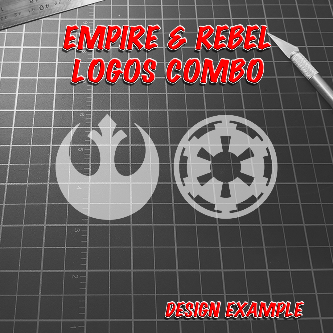 empire rebel logos combo decal raven decals high quality